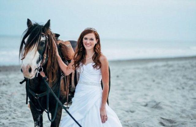 Noiva e cavalo