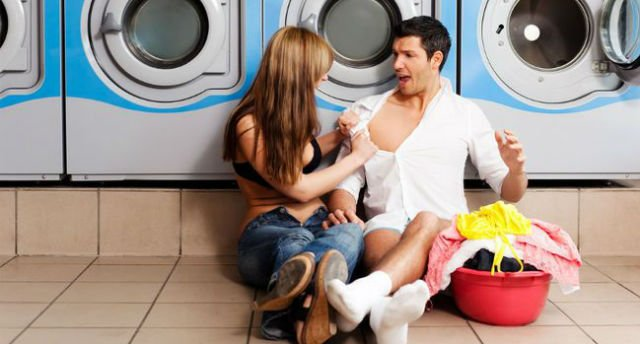Sexo na lavanderia